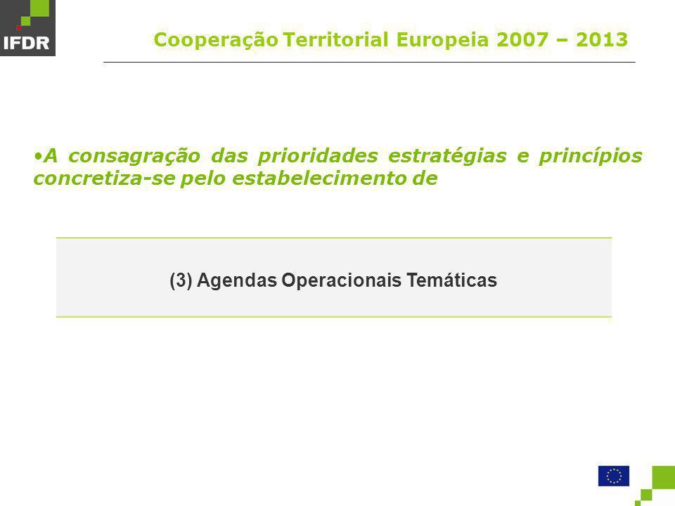(3) Agendas Operacionais Temáticas