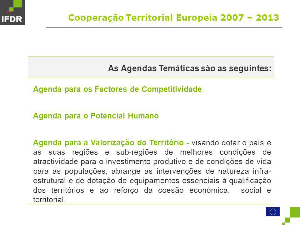 Cooperação Territorial Europeia 2007 – 2013