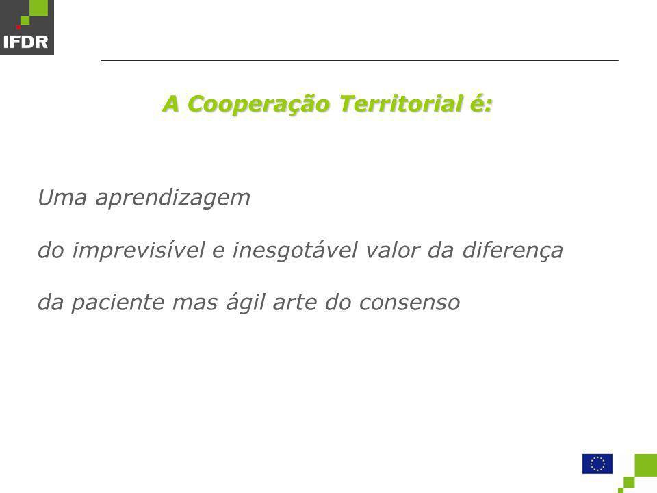 A Cooperação Territorial é: