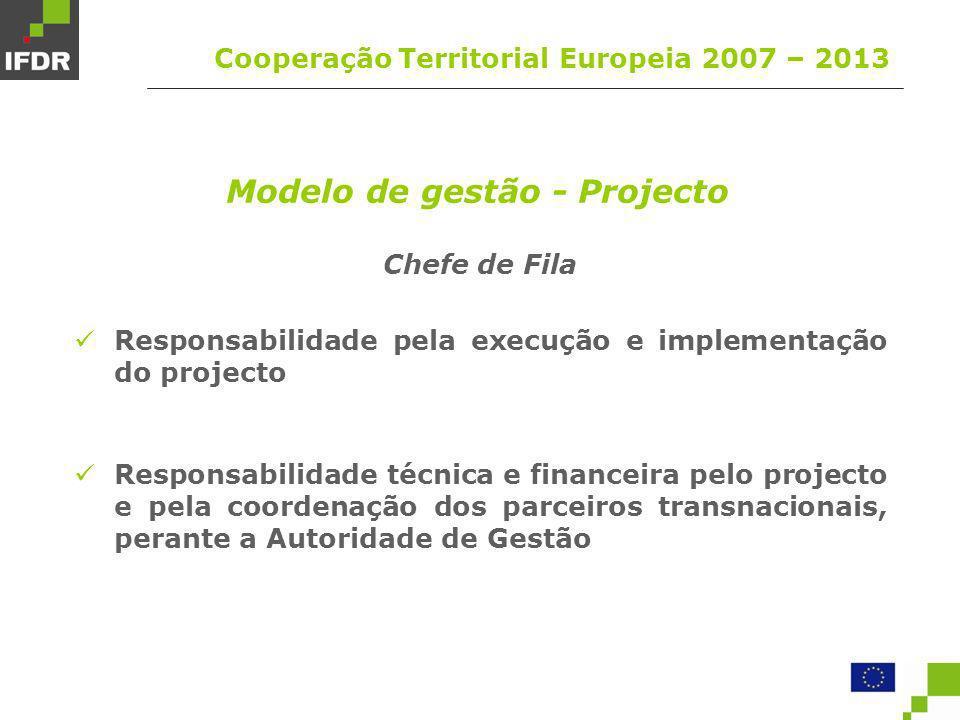Modelo de gestão - Projecto