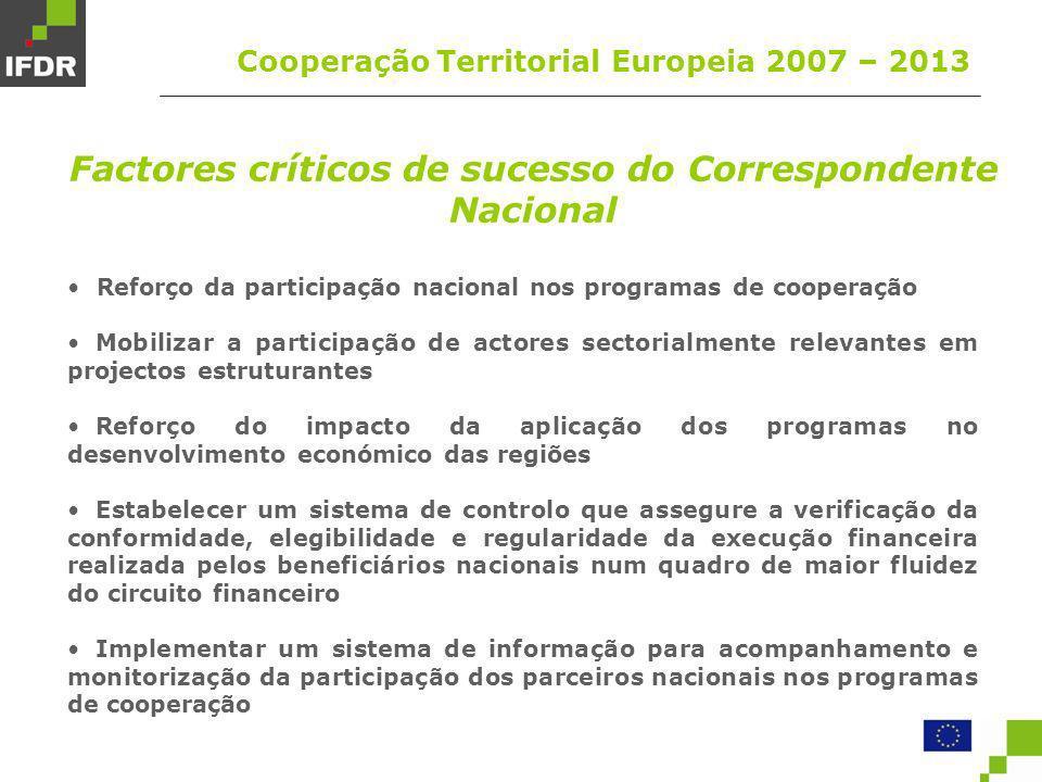 Factores críticos de sucesso do Correspondente Nacional