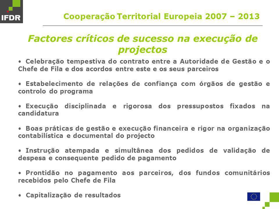 Factores críticos de sucesso na execução de projectos