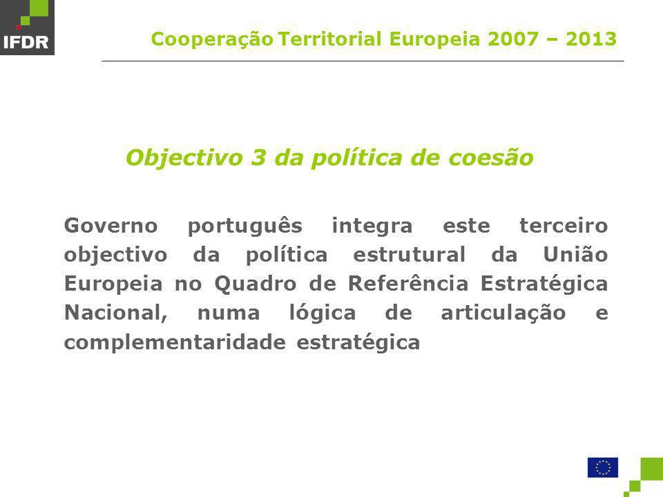 Objectivo 3 da política de coesão