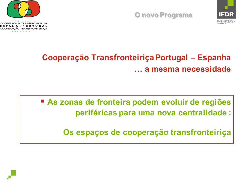 Cooperação Transfronteiriça Portugal – Espanha … a mesma necessidade