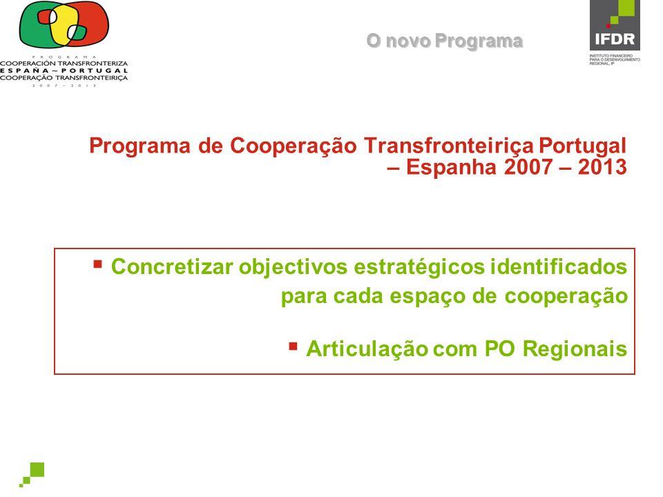 Programa de Cooperação Transfronteiriça Portugal – Espanha 2007 – 2013
