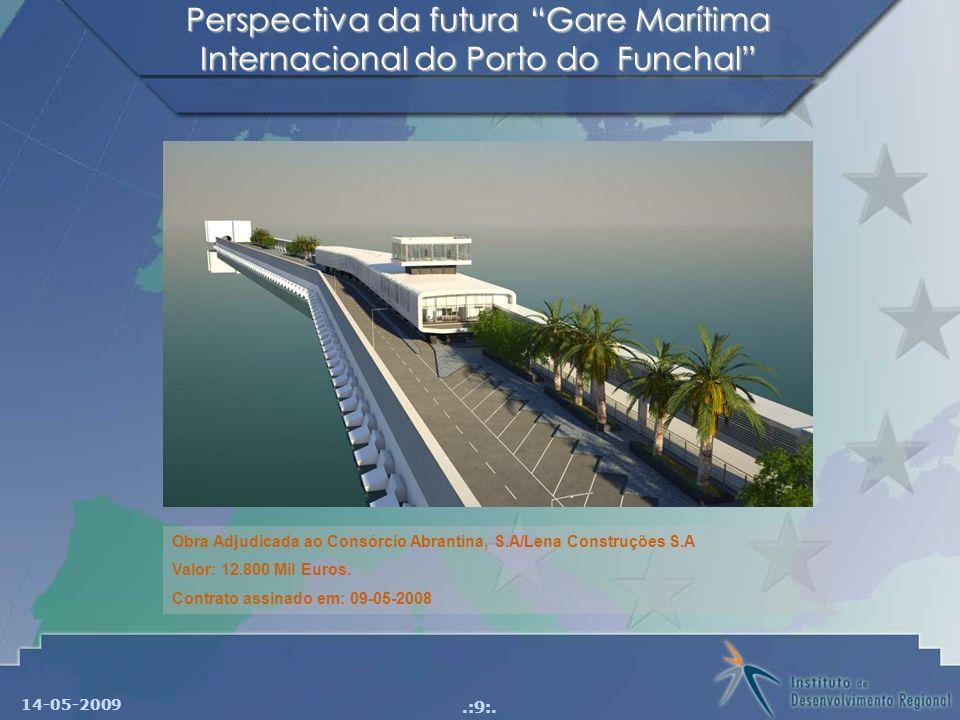 Perspectiva da futura Gare Marítima Internacional do Porto do Funchal