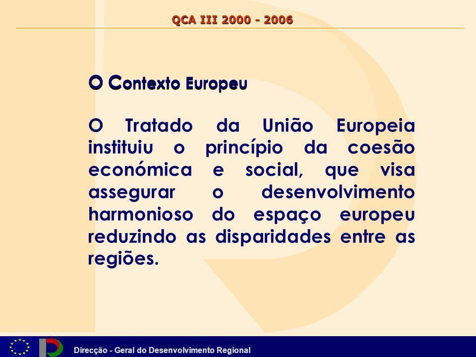QCA III 2000 - 2006 O Contexto Europeu.