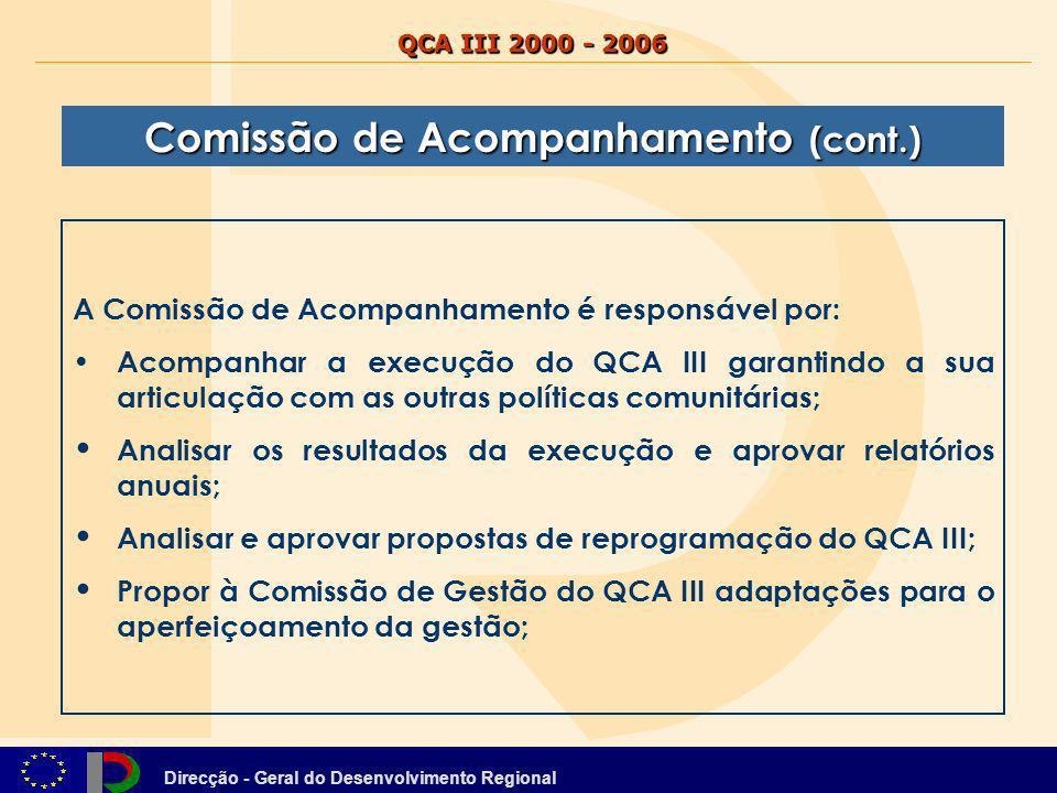 Comissão de Acompanhamento (cont.)