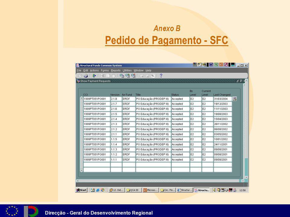 Anexo B Pedido de Pagamento - SFC