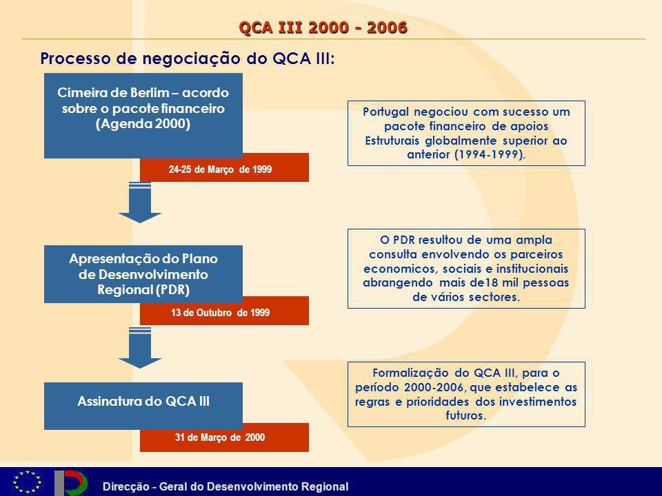 Processo de negociação do QCA III:
