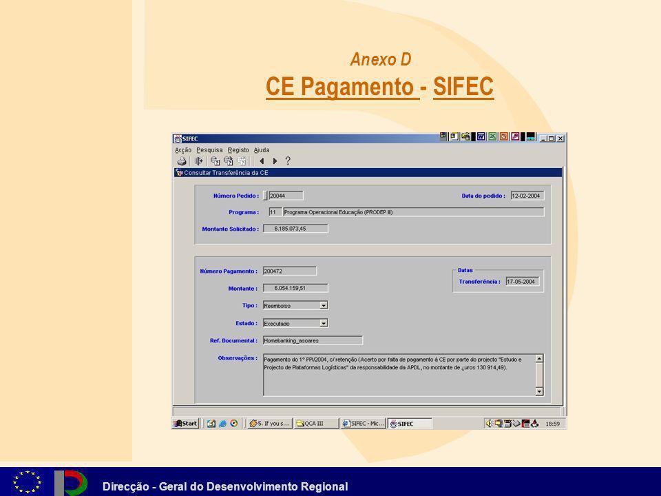 Anexo D CE Pagamento - SIFEC
