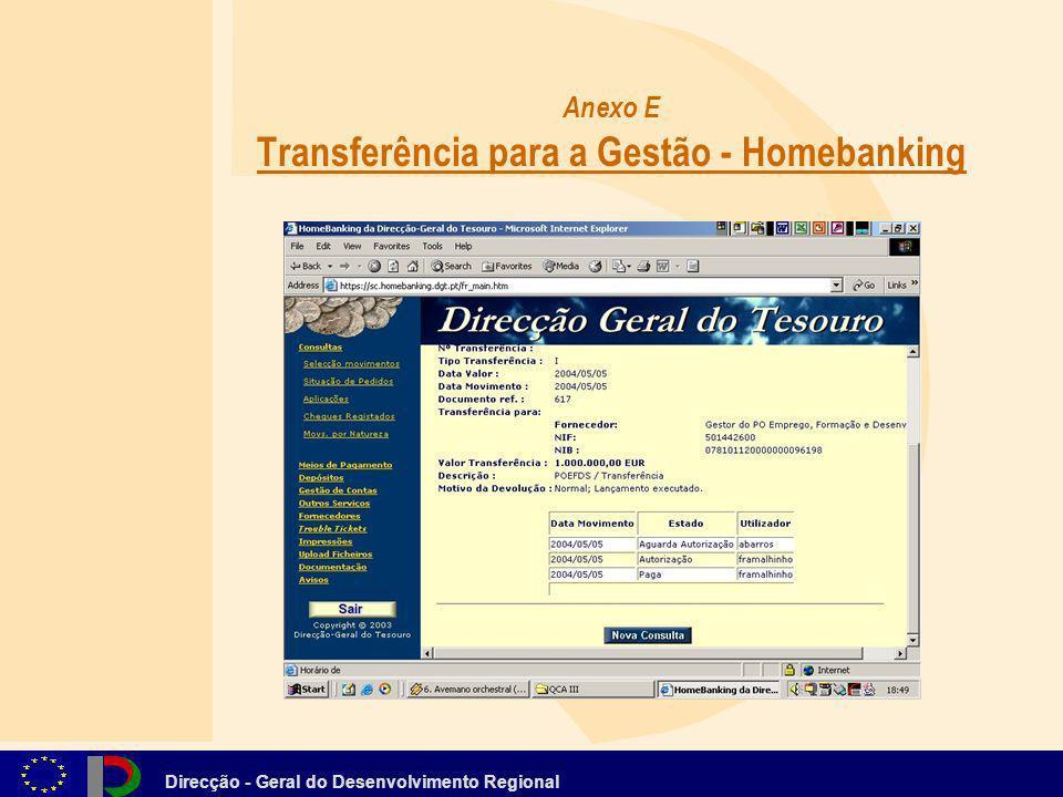 Anexo E Transferência para a Gestão - Homebanking