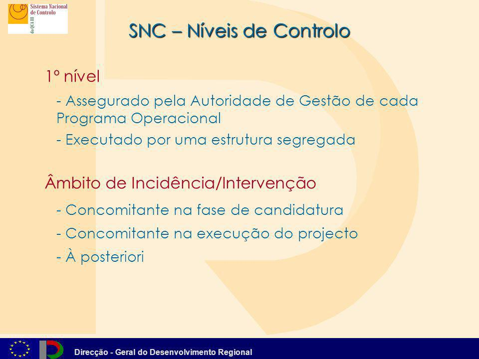 SNC – Níveis de Controlo