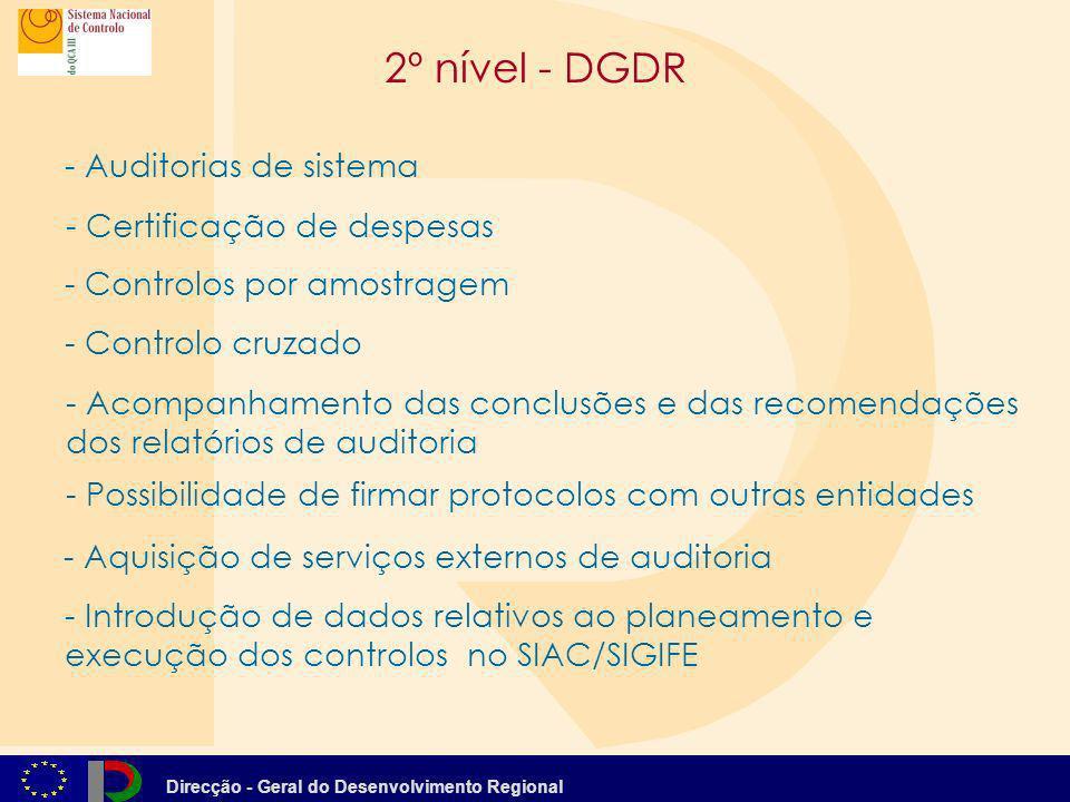2º nível - DGDR - Auditorias de sistema - Certificação de despesas
