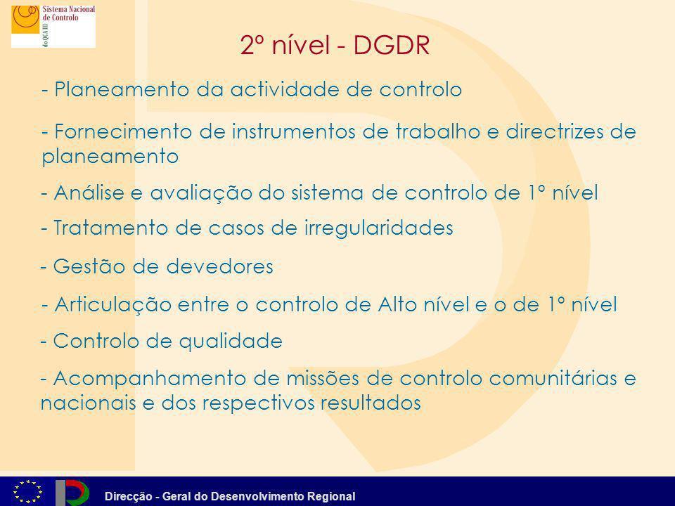 2º nível - DGDR Planeamento da actividade de controlo