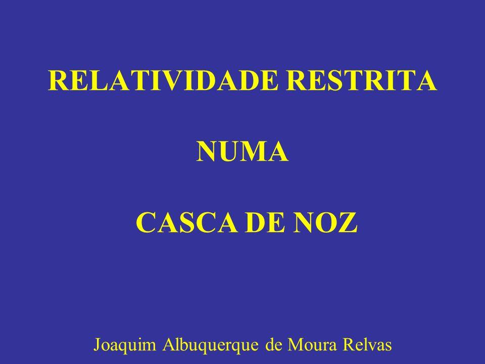 RELATIVIDADE RESTRITA NUMA CASCA DE NOZ