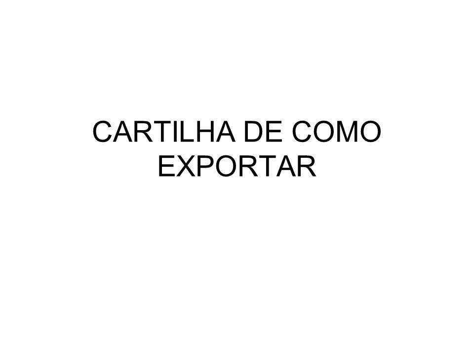 CARTILHA DE COMO EXPORTAR