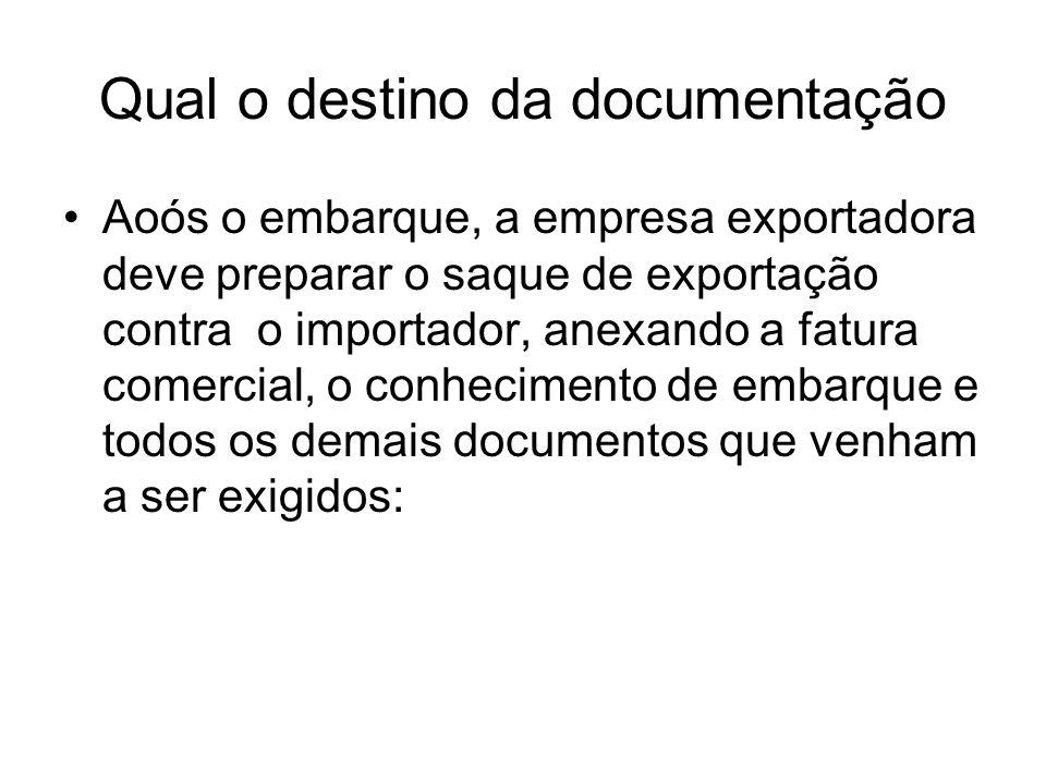 Qual o destino da documentação