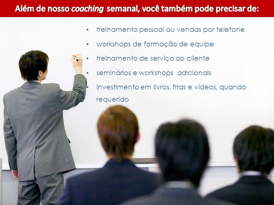 Além de nosso coaching semanal, você também pode precisar de: