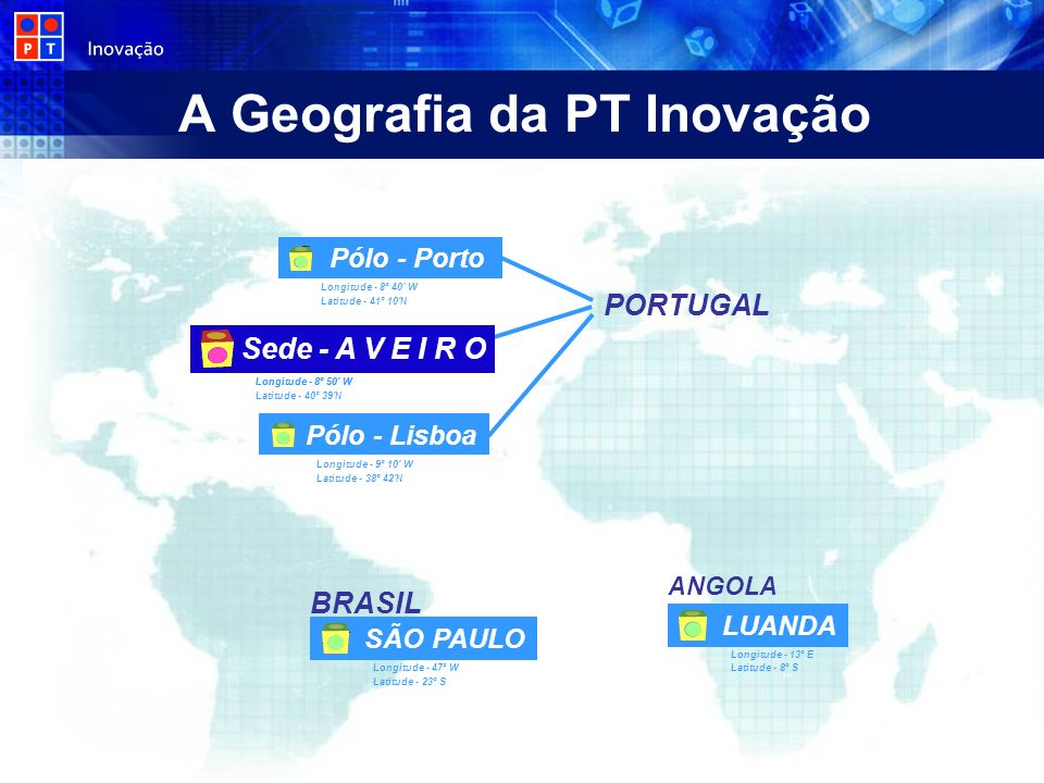 A Geografia da PT Inovação