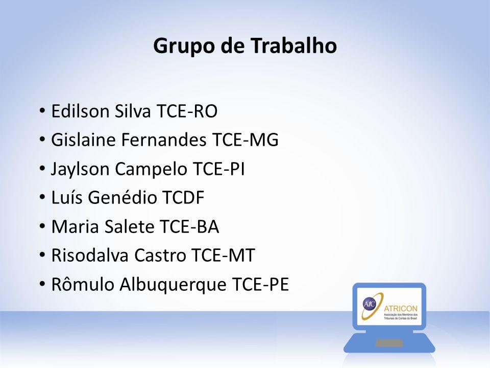 Grupo de Trabalho Edilson Silva TCE-RO Gislaine Fernandes TCE-MG