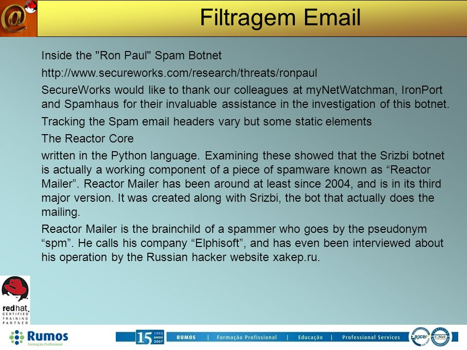 Inside the Ron Paul Spam Botnet