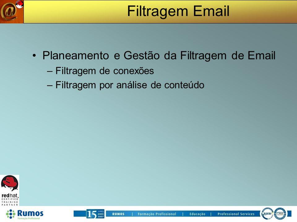 Planeamento e Gestão da Filtragem de Email