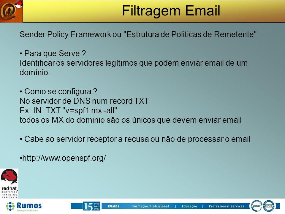 Sender Policy Framework ou Estrutura de Politicas de Remetente