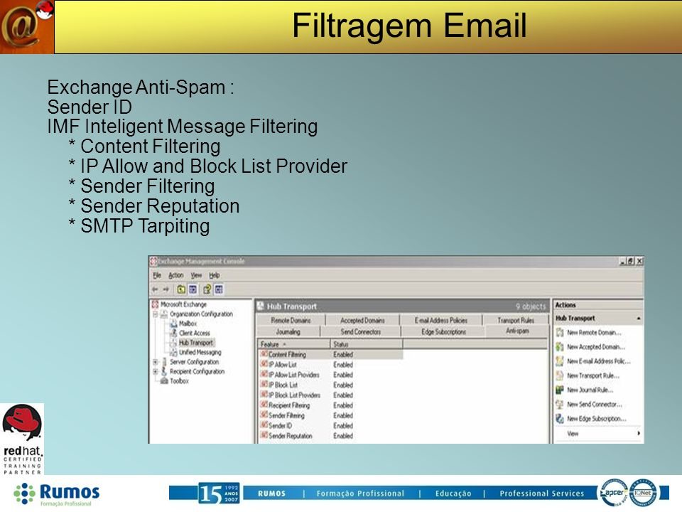 IMF Inteligent Message Filtering * Content Filtering