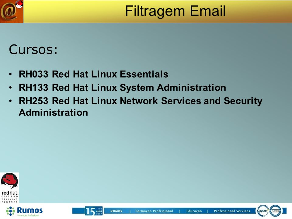Cursos: RH033 Red Hat Linux Essentials