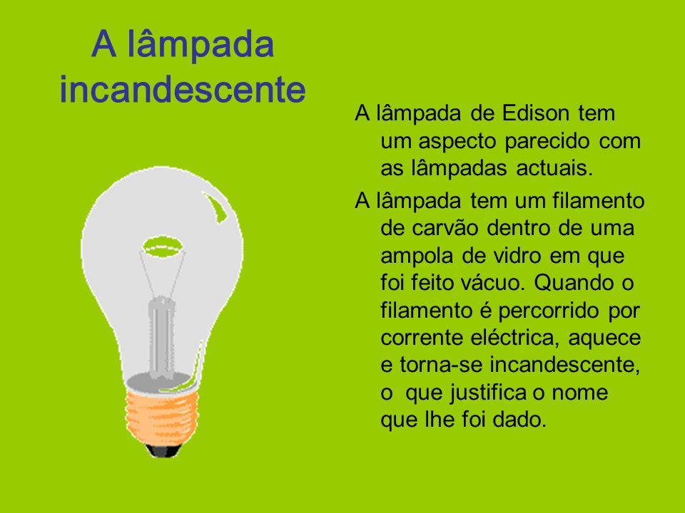 A lâmpada incandescente