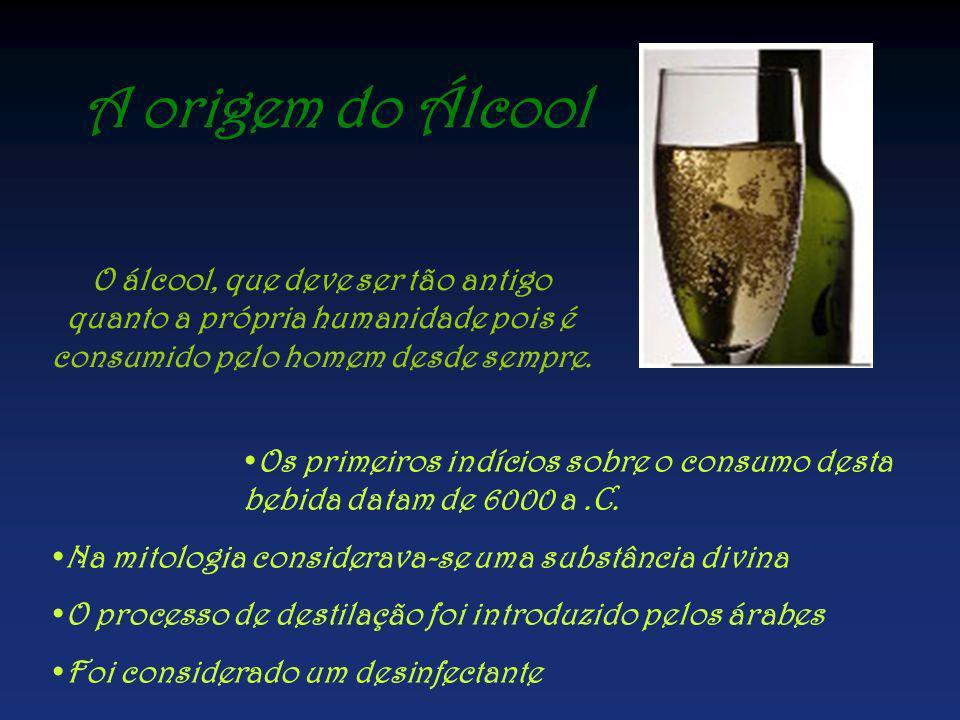 A origem do Álcool O álcool, que deve ser tão antigo quanto a própria humanidade pois é consumido pelo homem desde sempre.