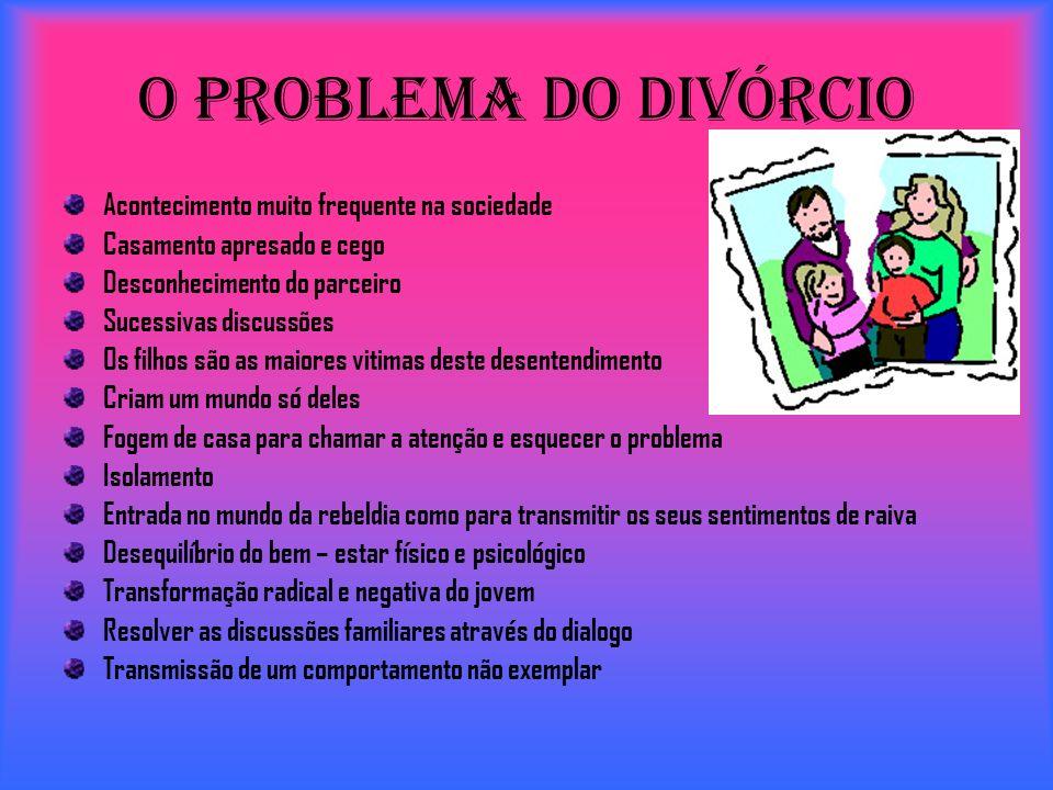 O Problema do Divórcio Acontecimento muito frequente na sociedade
