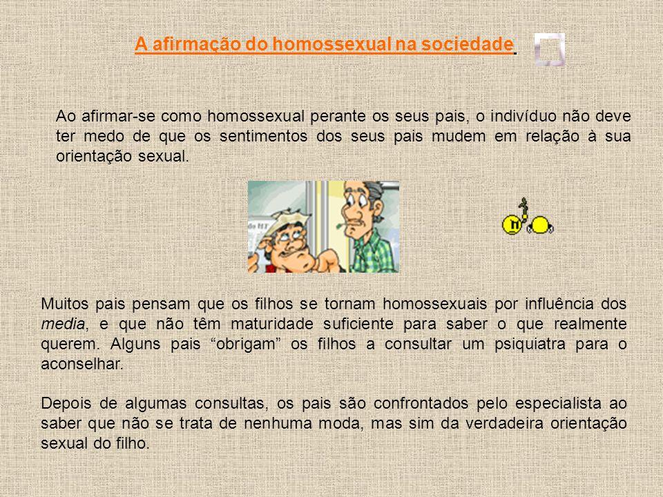 A afirmação do homossexual na sociedade