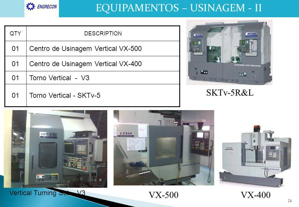 EQUIPAMENTOS – USINAGEM - II MACHINING EQUIPMENT - II