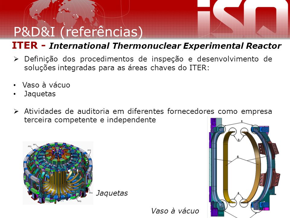 P&D&I (referências) ITER - International Thermonuclear Experimental Reactor.