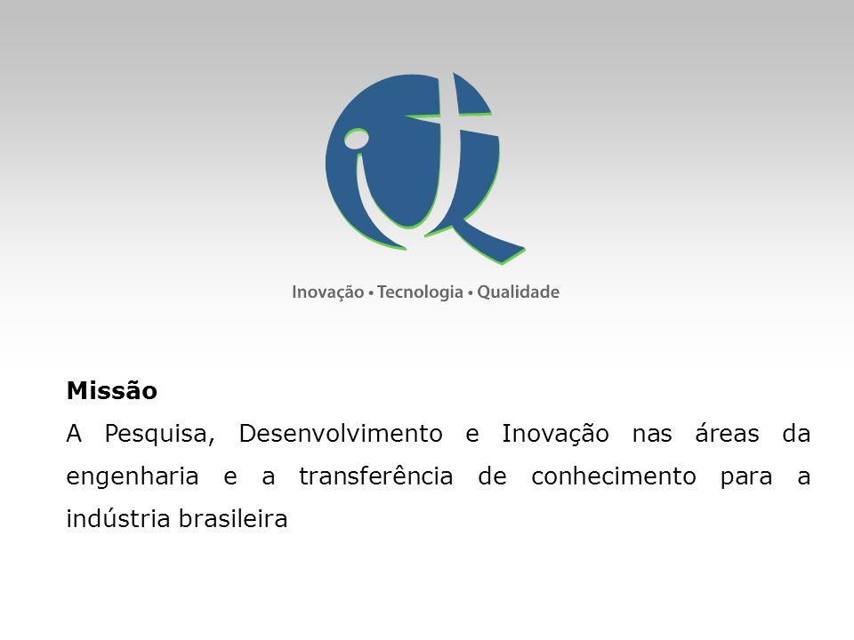 Missão A Pesquisa, Desenvolvimento e Inovação nas áreas da engenharia e a transferência de conhecimento para a indústria brasileira.