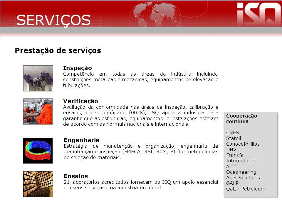 SERVIÇOS Prestação de serviços Inspeção Verificação Engenharia Ensaios