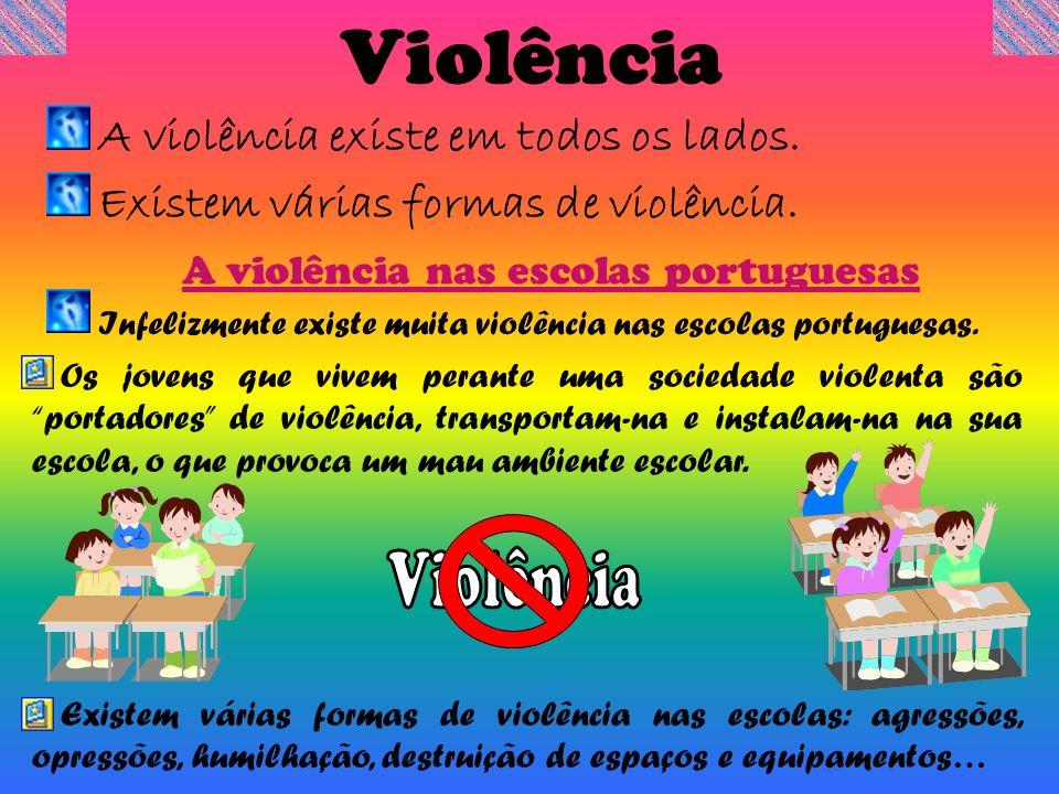 A violência nas escolas portuguesas