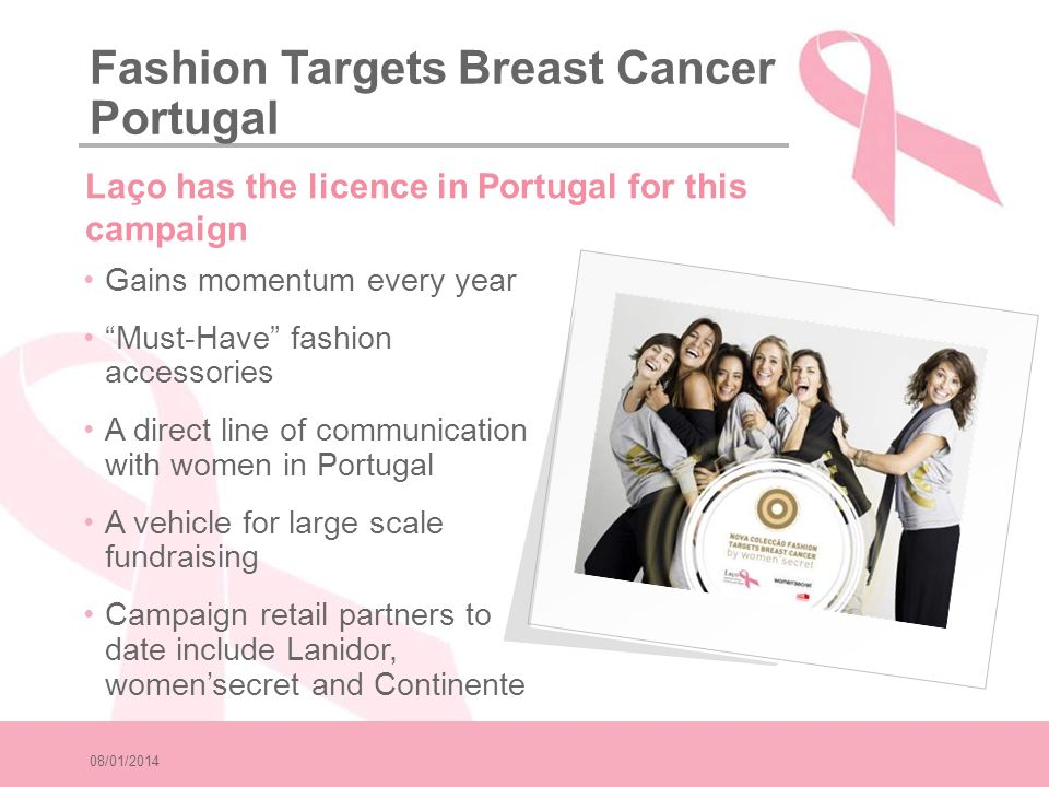Fashion Targets Breast Cancer Portugal