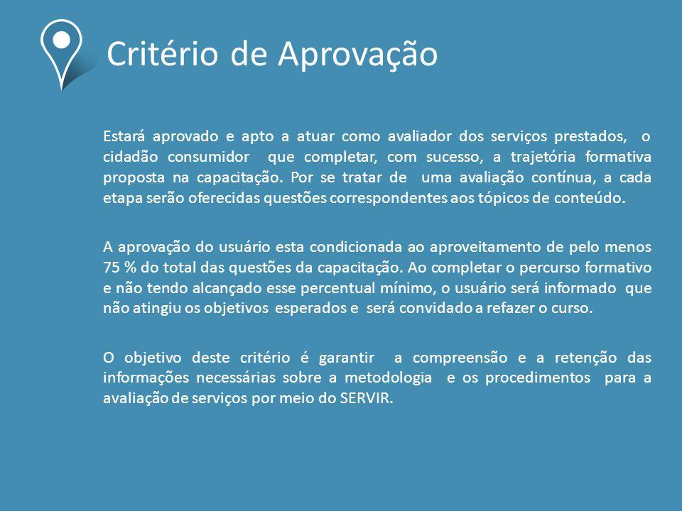 Critério de Aprovação