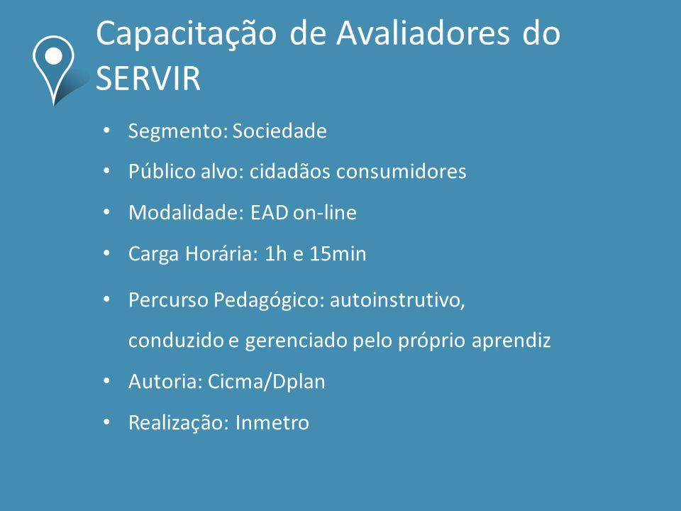 Capacitação de Avaliadores do SERVIR