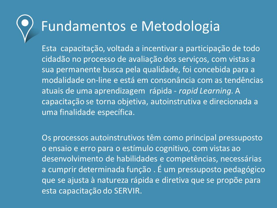 Fundamentos e Metodologia