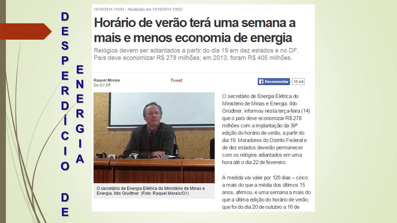 DESPERDÍCIO DE ENERGIA