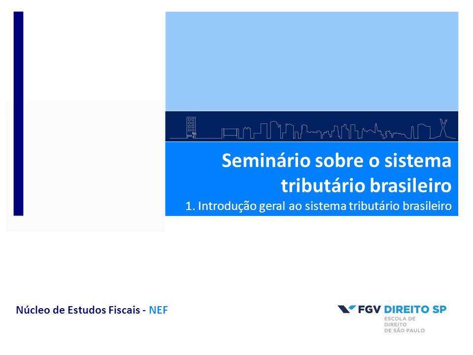 Seminário sobre o sistema tributário brasileiro 1