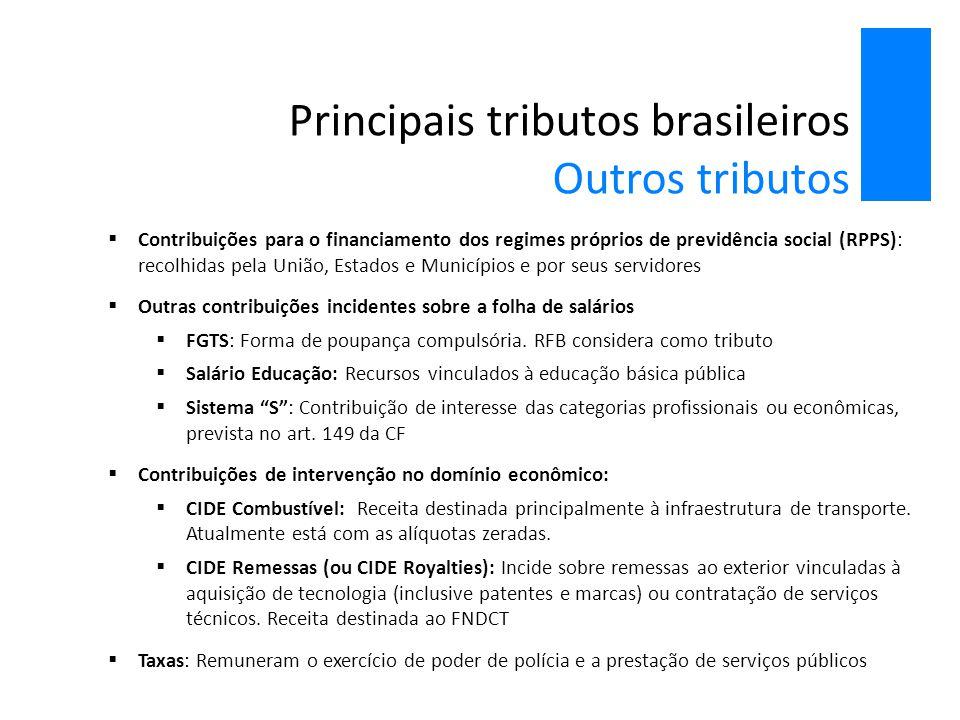 Principais tributos brasileiros Outros tributos
