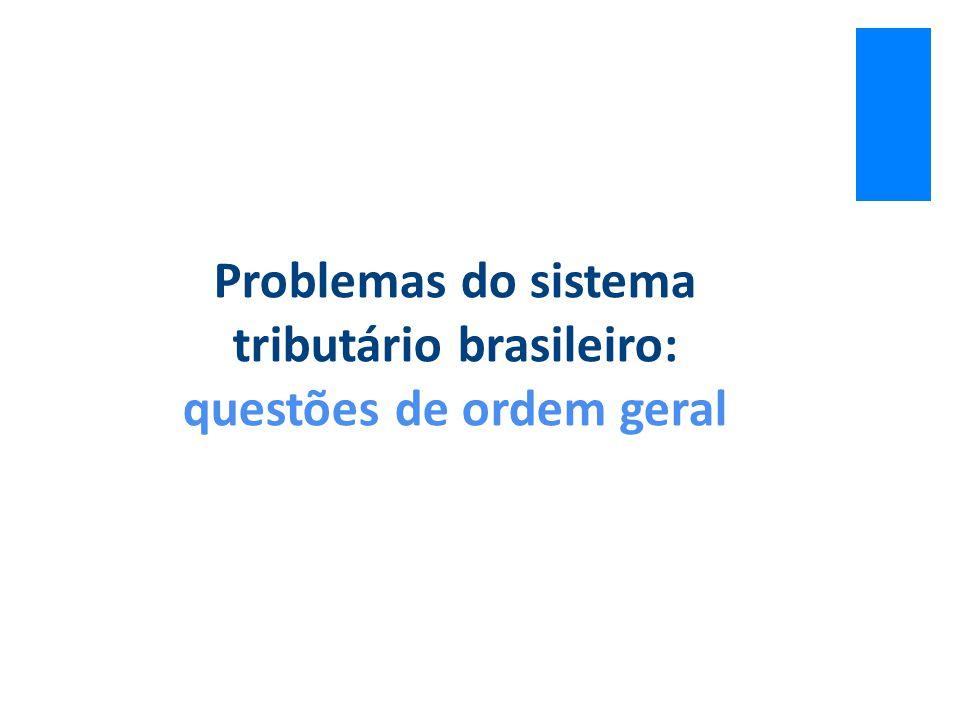 Problemas do sistema tributário brasileiro: questões de ordem geral