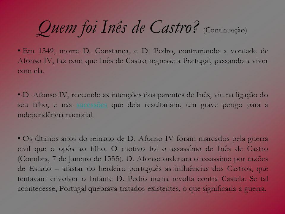 Quem foi Inês de Castro (Continuação)