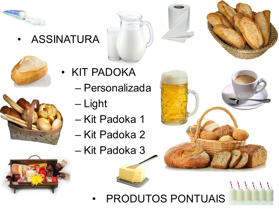 ASSINATURA KIT PADOKA Personalizada Light Kit Padoka 1 Kit Padoka 2 Kit Padoka 3 PRODUTOS PONTUAIS
