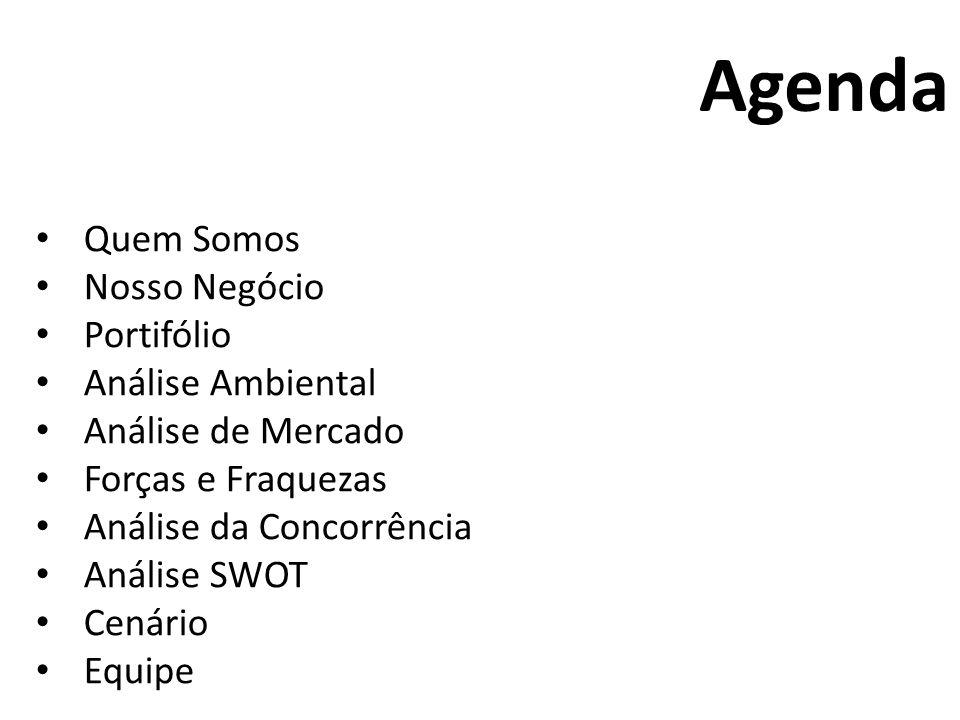 Agenda Quem Somos Nosso Negócio Portifólio Análise Ambiental